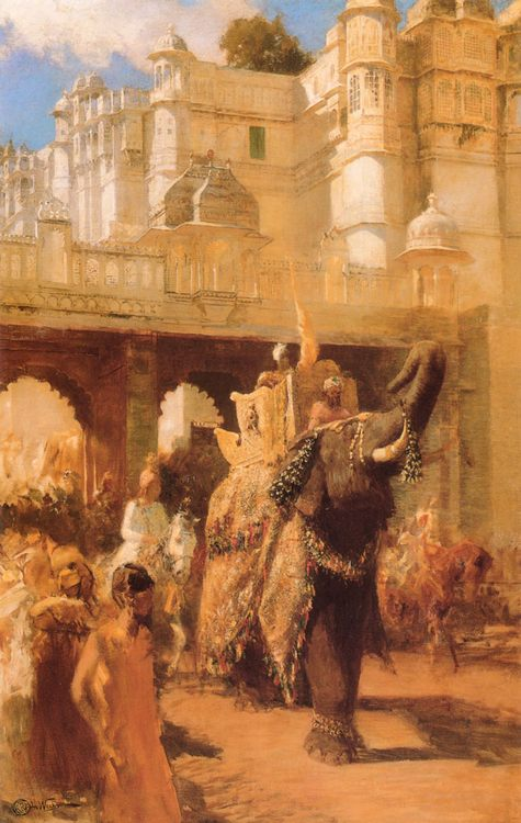 A Royal Procession :: Edwin Lord Weeks - Oriental architecture фото