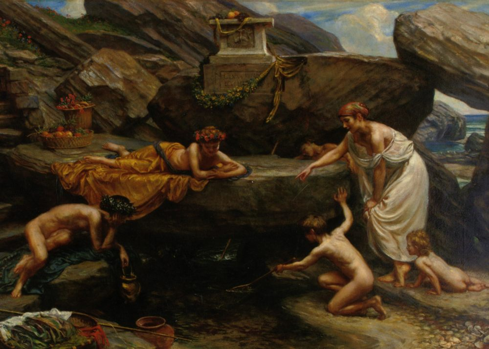 The Wonders of of the Deep :: Edward John Poynter - Antique world scenes фото