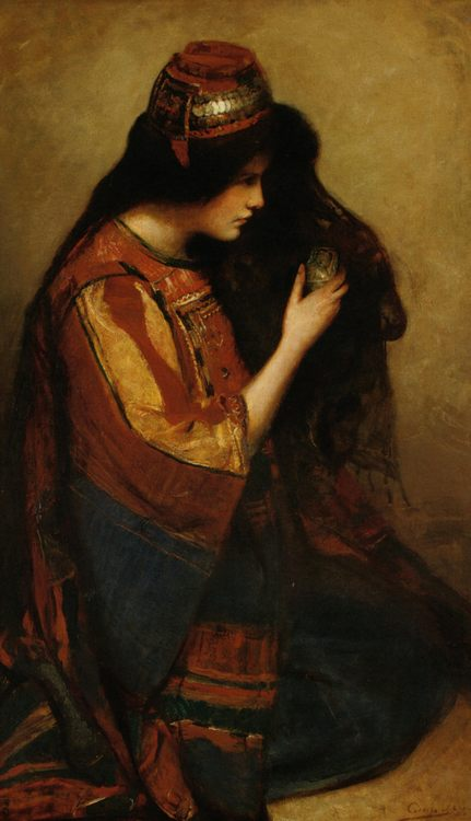 Mary of Bethany :: George William Joy - Antique beauties in art and painting фото