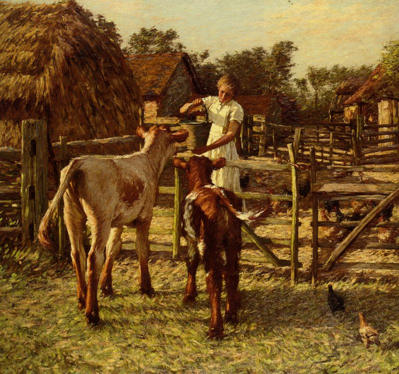 Sussex Farm :: Henry Herbert La Thangue - Village life ôîòî
