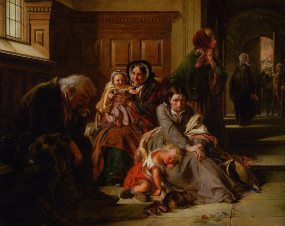 Waiting for the Verdict :: Abraham Solomon - Woman and child in painting and art фото