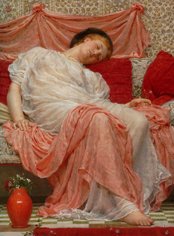 Jasmine:: Albert Joseph Moore  - Antique beauties in art and painting фото