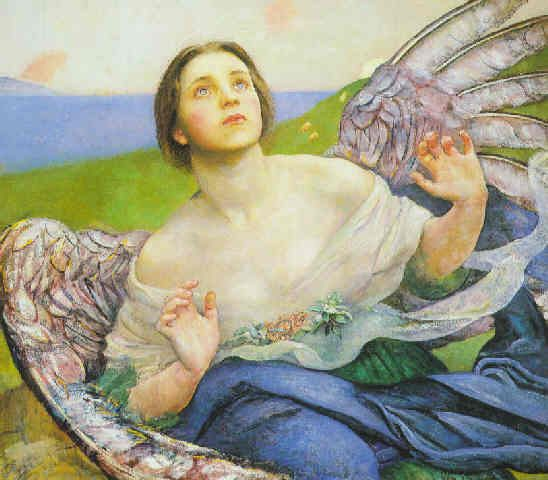The Sense of Sight :: Annie Louisa Robinson Swynnerton - Angels in art and painting фото