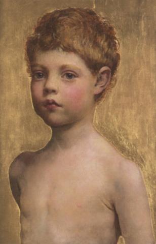 Portrait of a Boy  :: Annie Louisa Robinson Swynnerton - Portraits of young boys фото