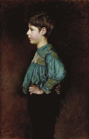 Portrait of Guy William Hopton :: Annie Louisa Robinson Swynnerton - Portraits of young boys ôîòî