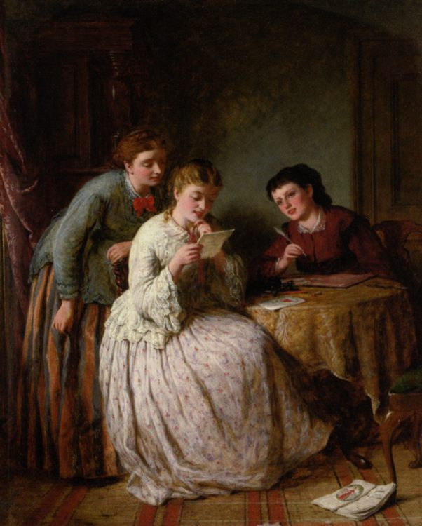 The Eve of St Valentine :: George Smith - Romantic scenes in art and painting ôîòî