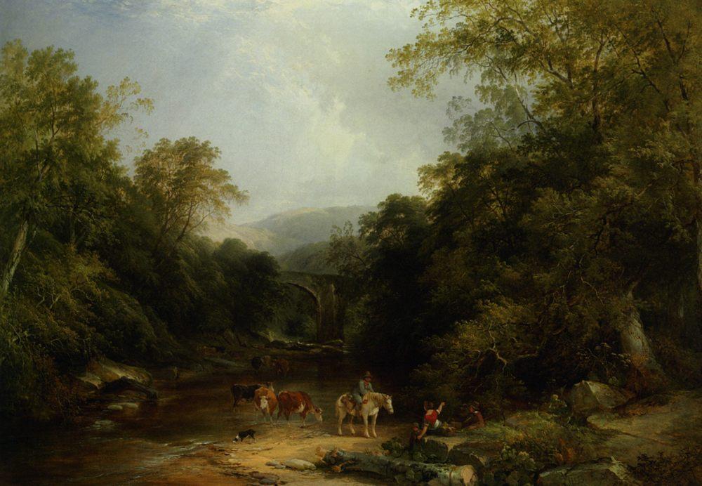 The Vale of Ashburton :: Henry John Boddington - River landscapes ôîòî