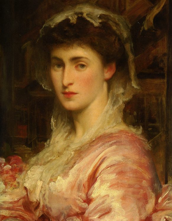 Mrs Evans Gordon :: Lord Frederick Leighton - 6 woman's portraits hall ( The middle of 19 centuries ) in art and painting фото
