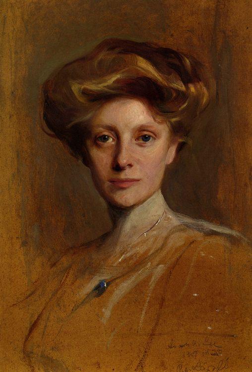 Portrait of Miss Faith Moore :: Philip Alexius de Laszlo - 8 female portraits hall фото