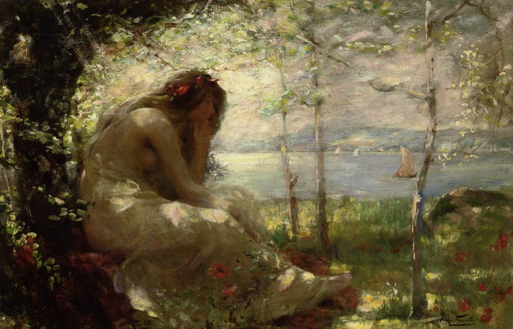 Dreaming :: Robert Fowler - Antique beauties in art and painting фото