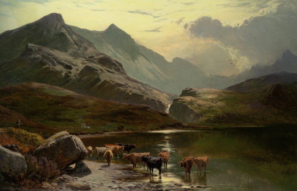 Lock Coruisk :: Sidney Richard Percy - Mountain scenery ôîòî