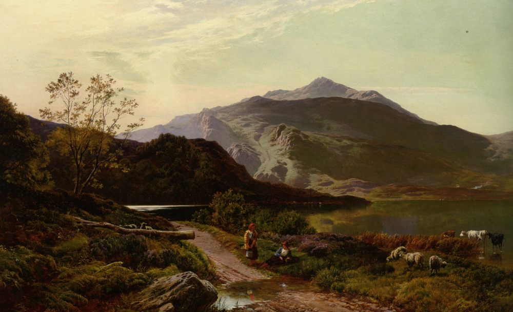 Rest on the Roadside :: Sidney Richard Percy - Mountain scenery фото