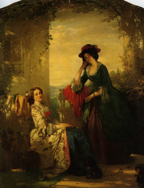 Sophia and Olivia :: Thomas Faed - 6 woman's portraits hall ( The middle of 19 centuries ) in art and painting фото