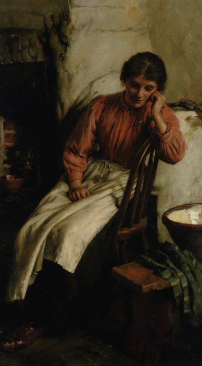 Reverie :: Walter Langley  - 8 female portraits hall ôîòî