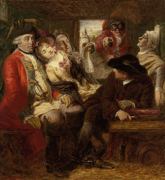 Sketch for Stage Coach Aventure :: William Powell Frith - Romantic scenes in art and painting ôîòî