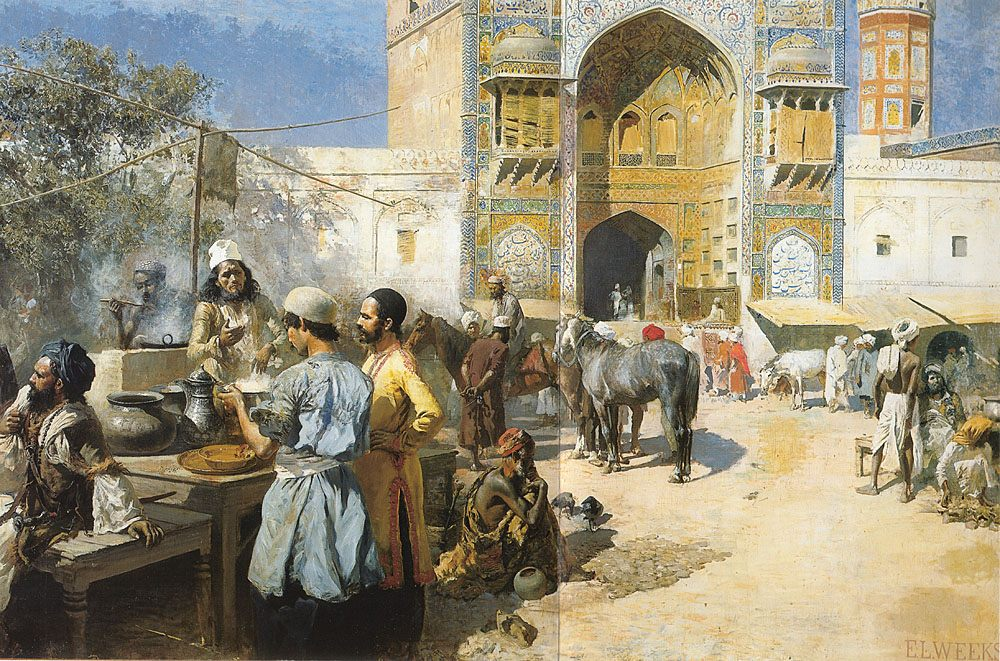 An Open-Air Restaurant, Lahore :: Edwin Lord Weeks - Oriental architecture фото