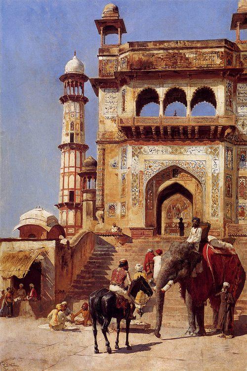 Before A Mosque :: Edwin Lord Weeks - Oriental architecture ôîòî