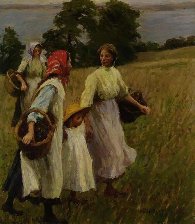 Blackberry Harvest :: Harold Harvey  - Village life фото