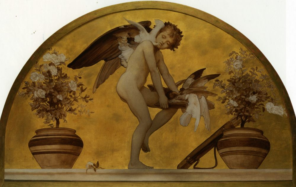 Cupid and Doves :: Lord Frederick Leighton - Angels in art and painting фото