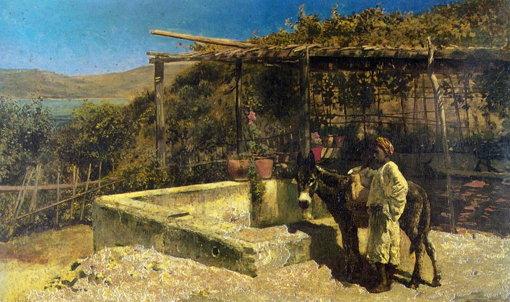 By The Well :: Edwin Lord Weeks - Street and market genre scenes ôîòî