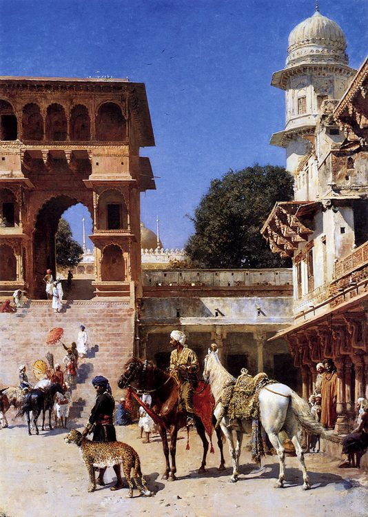 Departure For The Hunt :: Edwin Lord Weeks - Oriental architecture фото