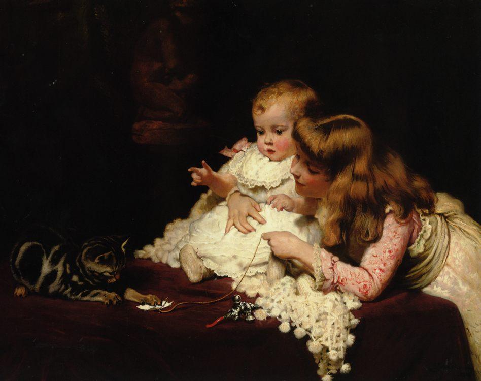 Playmates :: Charles Burton Barber - Babies portraits  фото