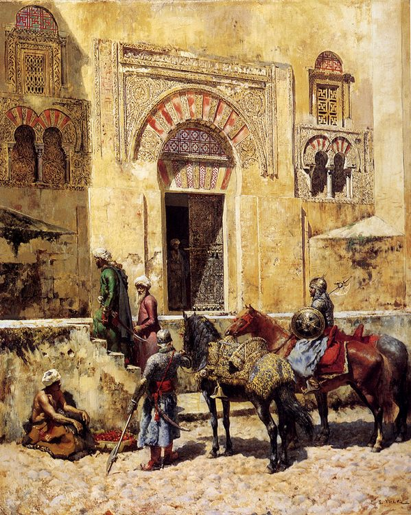 Entering The Mosque :: Edwin Lord Weeks - Oriental architecture фото