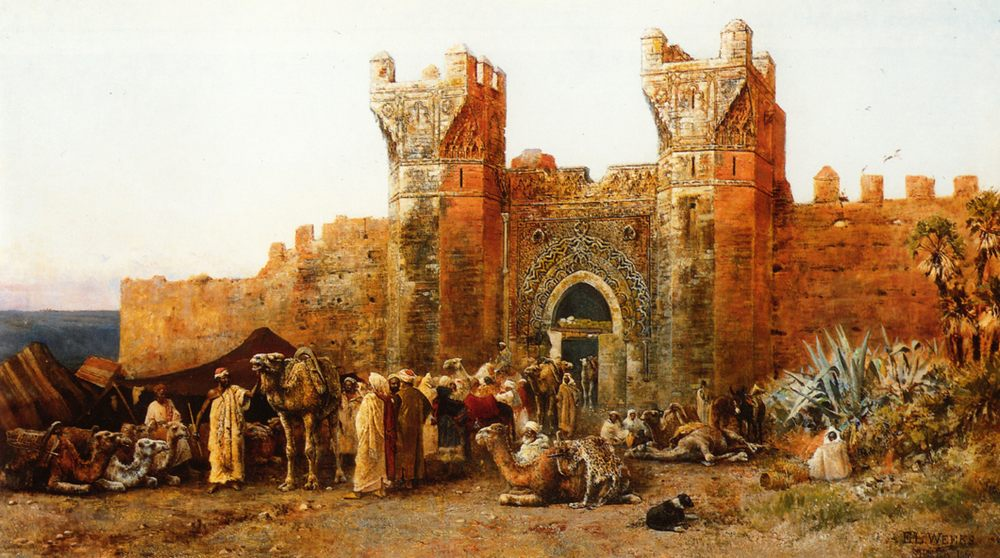 Gate of Shehal, Morocco :: Edwin Lord Weeks - Oriental architecture фото