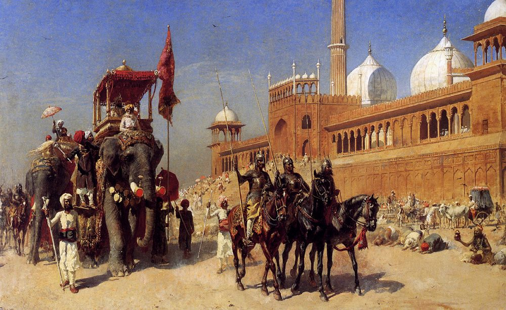 Great Mogul And His Court Returning From The Great Mosque At Delhi, India :: Edwin Lord Weeks - History painting фото