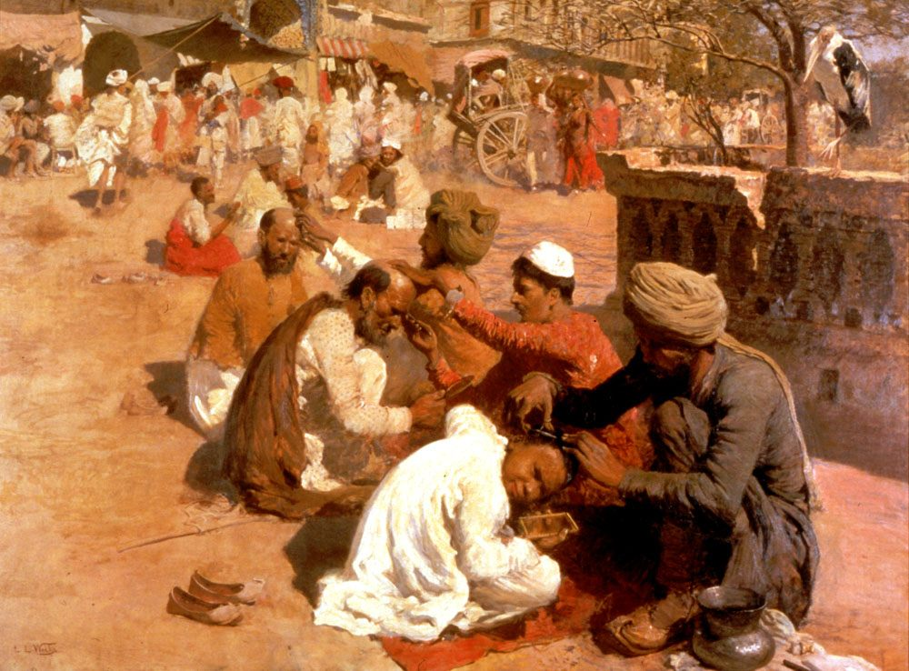 Indian Barbers - Saharanpore :: Edwin Lord Weeks - scenes of Oriental life ( Orientalism) in art and painting фото