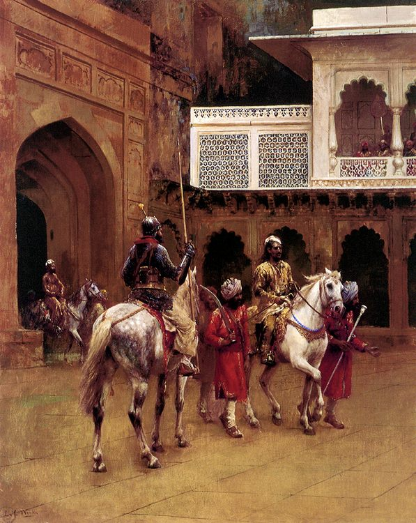 Indian Prince, Palace Of Agra :: Edwin Lord Weeks - History painting фото