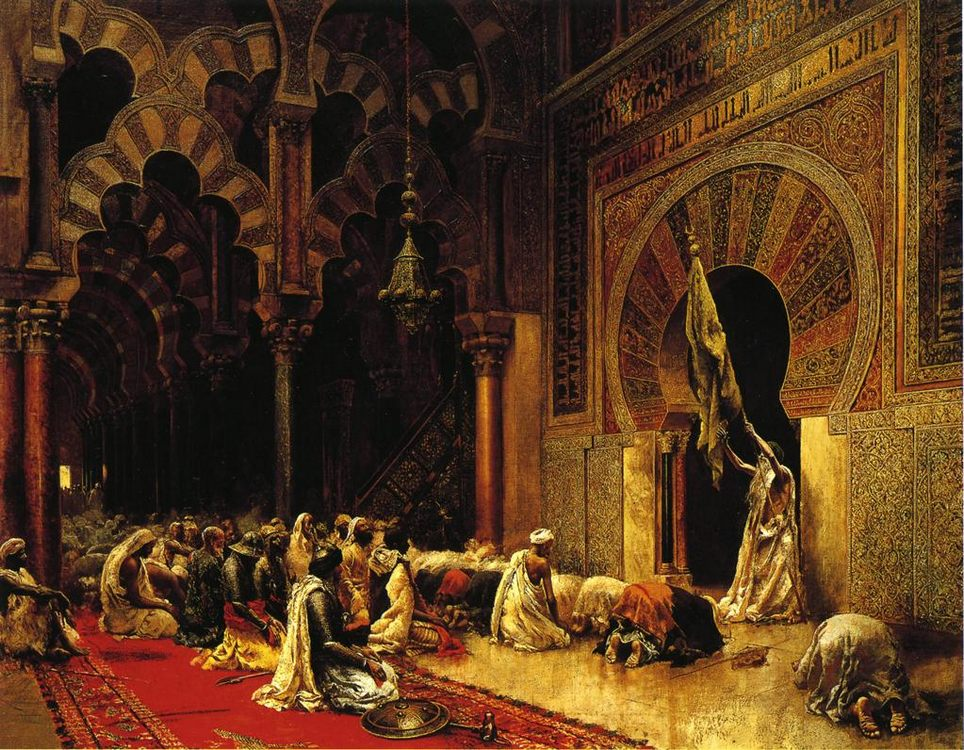 Interior of the Mosque at Cordova :: Edwin Lord Weeks - Rich interiors фото