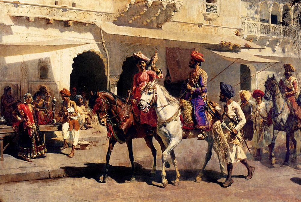 Leaving For The Hunt At Gwalior :: Edwin Lord Weeks  - Hunting scenes ôîòî