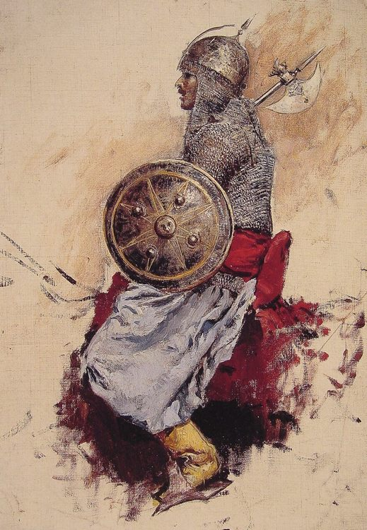 Man in Armour :: Edwin Lord Weeks - History painting фото