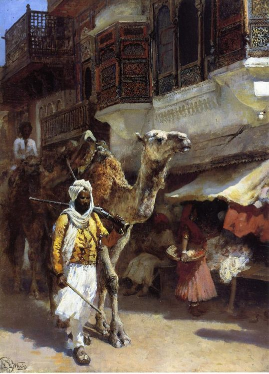 Man Leading a Camel :: Edwin Lord Weeks - Street and market genre scenes фото