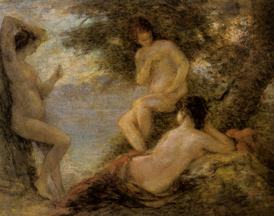 The Sirens :: Henri Fantin-Latour - nu art in mythology painting фото