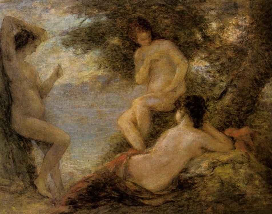 The Sirens :: Henri Fantin-Latour - nu art in mythology painting ôîòî