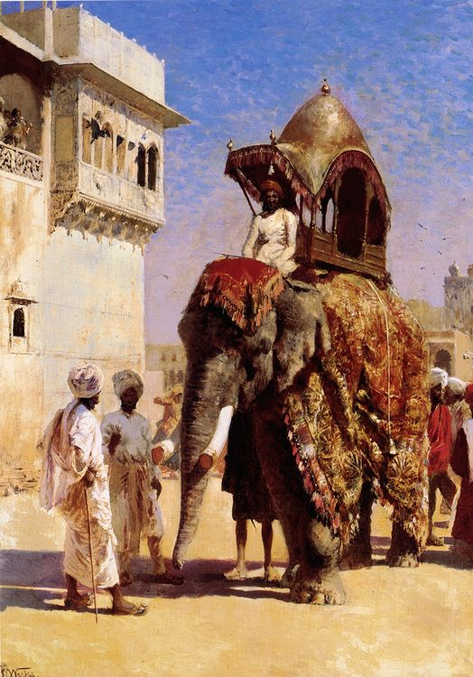 Mogul's Elephant :: Edwin Lord Weeks - scenes of Oriental life ( Orientalism) in art and painting фото