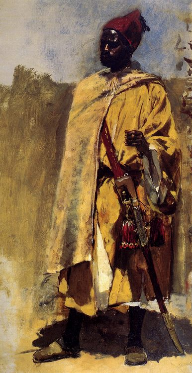 Moorish Guard :: Edwin Lord Weeks - men's portraits 19th century (second half) фото
