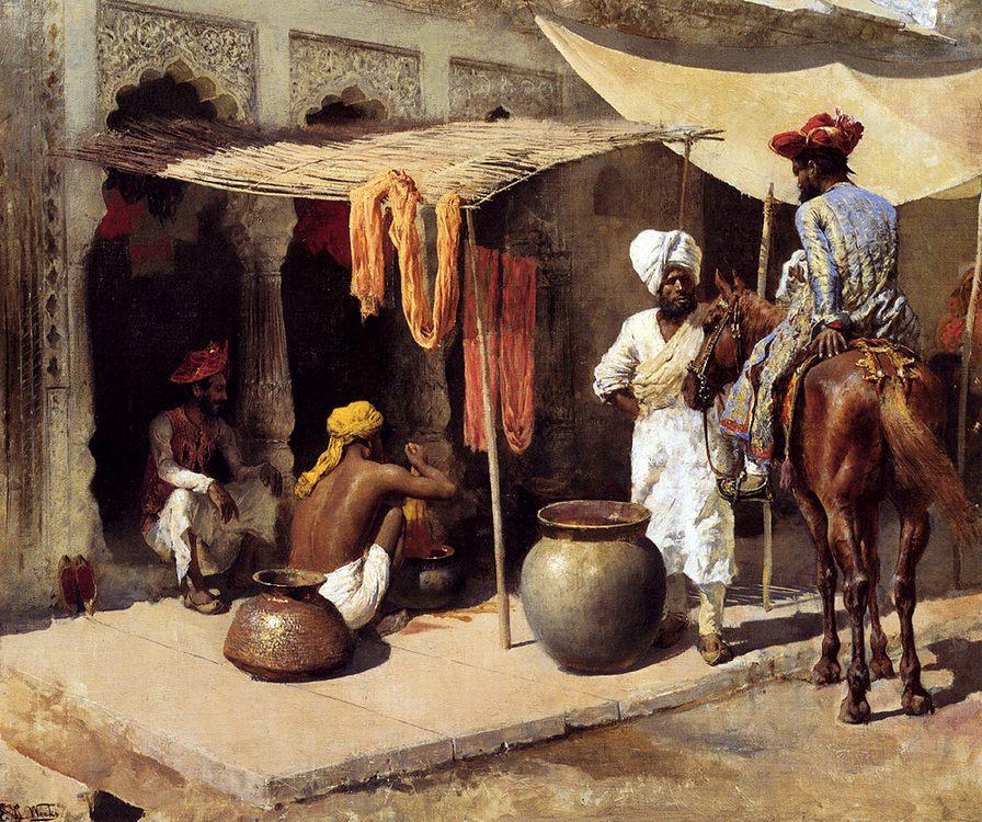 Outside An Indian Dye House :: Edwin Lord Weeks - Oriental architecture ôîòî