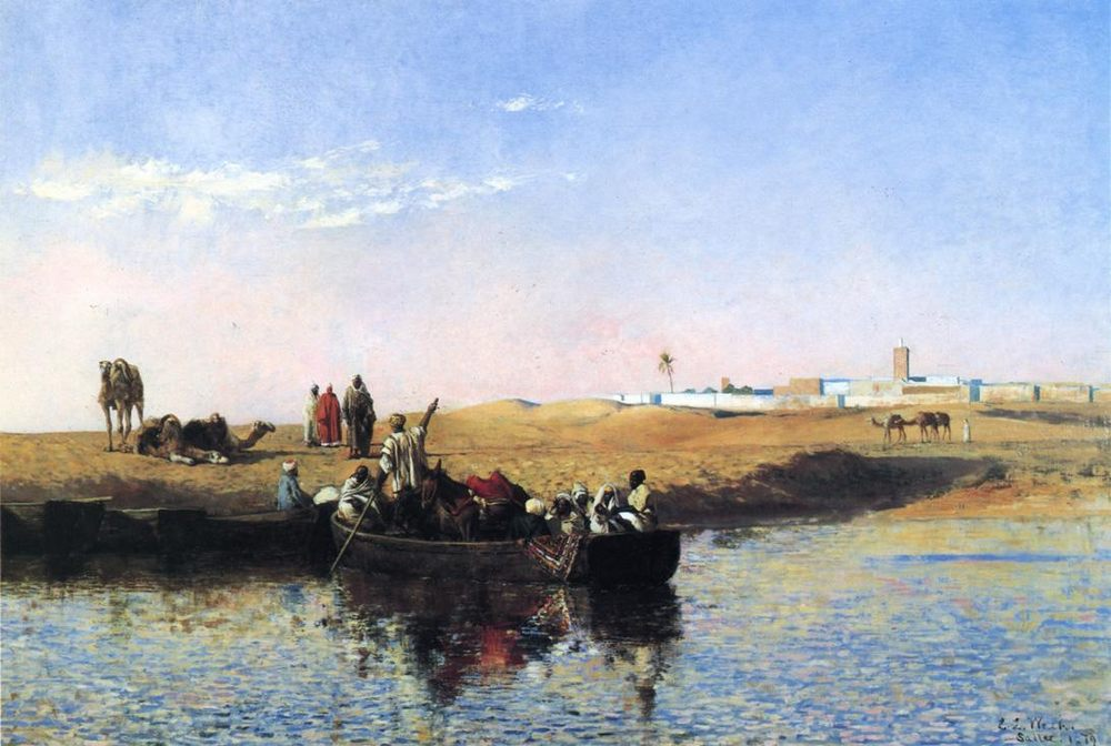 Scene at Sale, Morocco :: Edwin Lord Weeks - scenes of Oriental life ( Orientalism) in art and painting фото