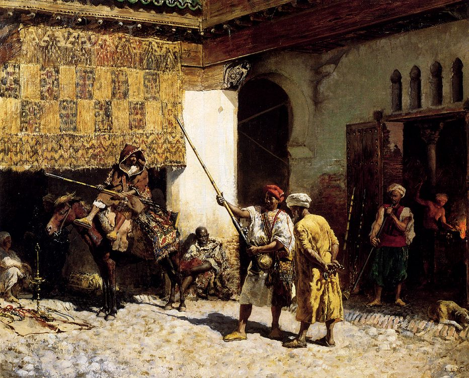The Arab Gunsmith :: Edwin Lord Weeks - scenes of Oriental life (Orientalism) in art and painting ôîòî
