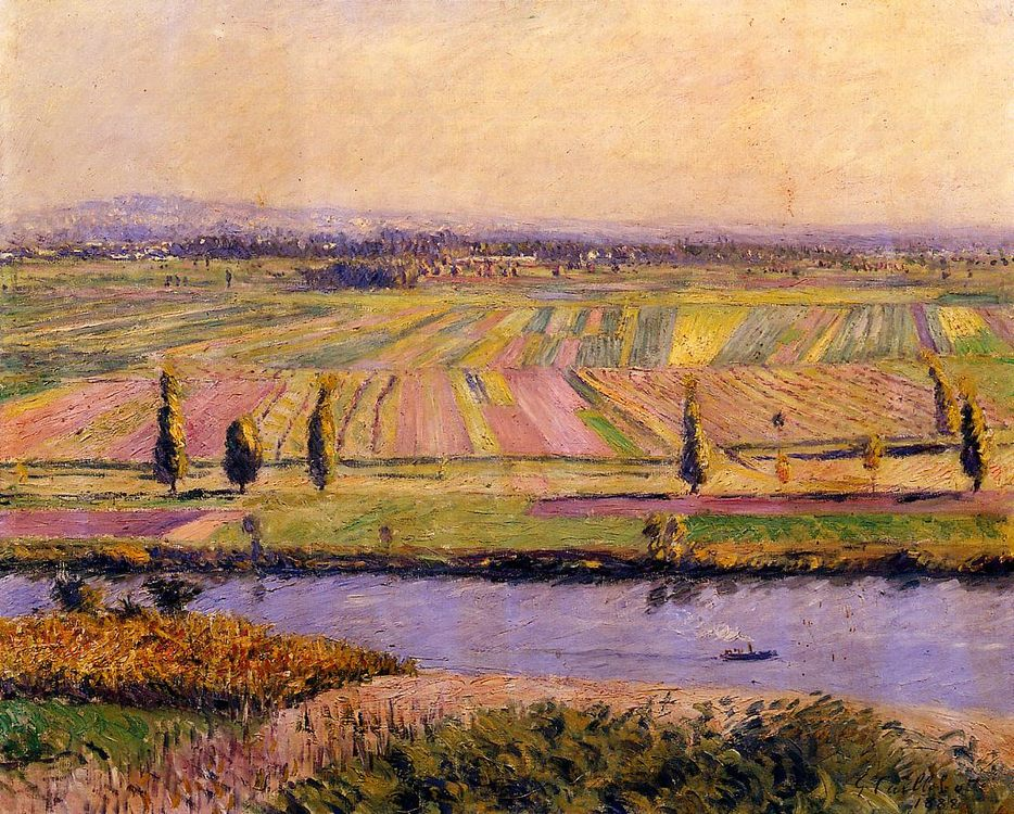 The Gennevilliers Plain, Seen from the Slopes of Argenteuil :: Gustave Caillebotte - Summer landscapes and gardens фото