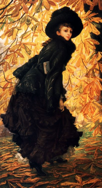 October  :: James Jacques Joseph Tissot - 7 female portraits ( the end of 19 centuries ) in art and painting фото