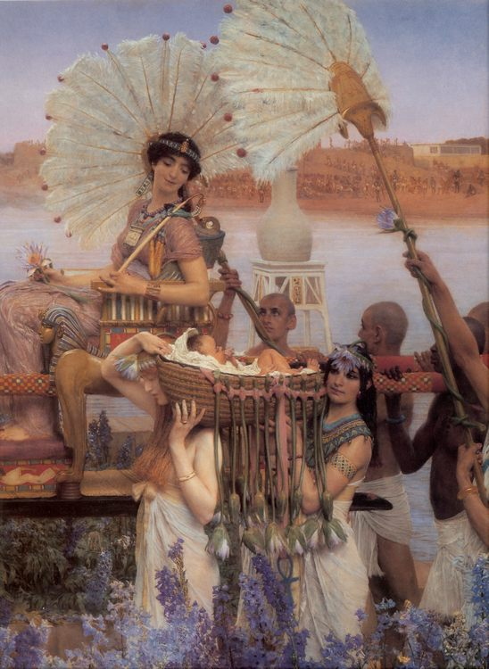 The Finding of Moses [detail] :: Sir Lawrence Alma-Tadema - Bible scenes in art and painting фото