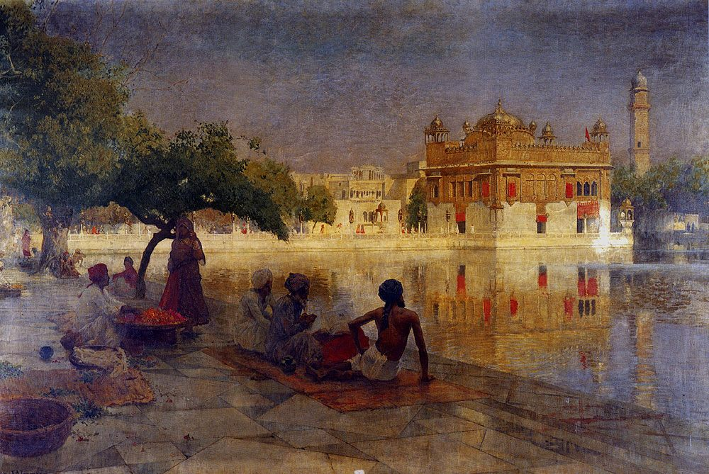 The Golden Temple, Amritsar :: Edwin Lord Weeks - Oriental architecture фото