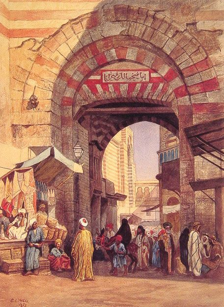 The Moorish Bazaar :: Edwin Lord Weeks - Street and market genre scenes фото