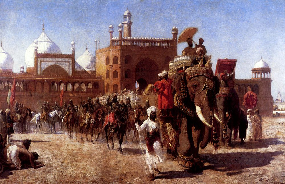 The Return Of The Imperial Court From The Great Nosque At Delhi, In The Reign Of Shah Jehan :: Edwin Lord Weeks - History painting фото