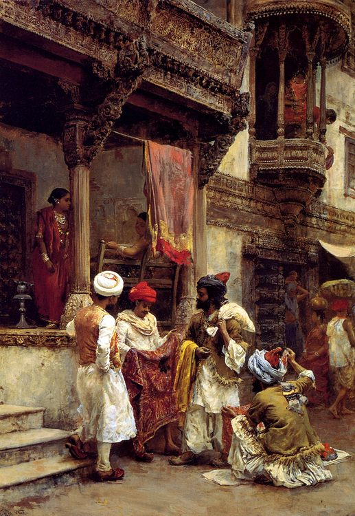 The Silk Merchants :: Edwin Lord Weeks - scenes of Oriental life ( Orientalism) in art and painting фото