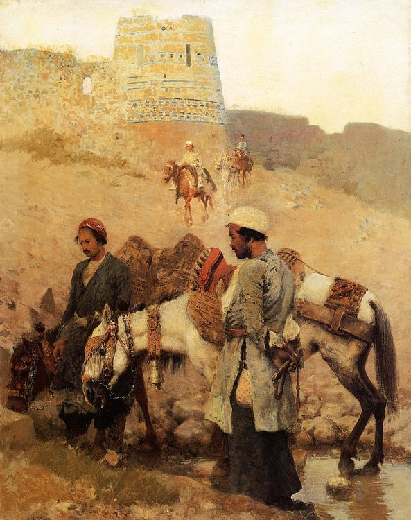 Traveling in Persia :: Edwin Lord Weeks - scenes of Oriental life ( Orientalism) in art and painting фото